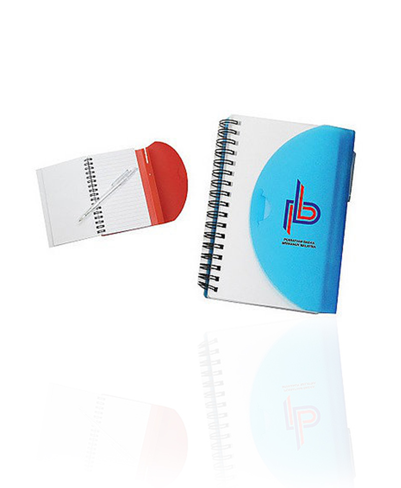 big half moon pp notepad with pen